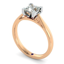 HRP561 Princess Solitaire Diamond Ring - rose