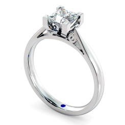 HRP561 Princess Solitaire Diamond Ring - white