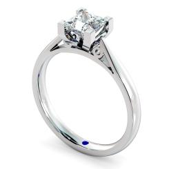 HRP561 Princess Solitaire Diamond Ring - white