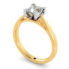 HRP561 Princess Solitaire Diamond Ring - yellow