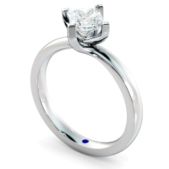 HRP572 Crossover Setting Princess cut Solitaire Diamond Ring - white