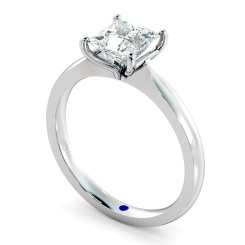 HRP595 Four Claw Princess cut Solitaire Diamond Ring - white