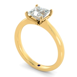 HRP595 Four Claw Princess cut Solitaire Diamond Ring - yellow