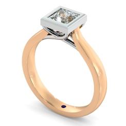 HRP626 Princess Solitaire Diamond Ring - rose