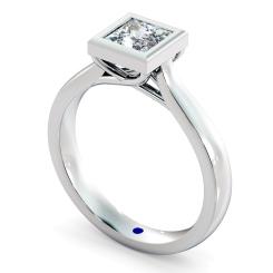 HRP626 Princess Solitaire Diamond Ring - white