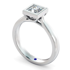 HRP626 Princess Solitaire Diamond Ring - white