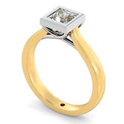 HRP626 Princess Solitaire Diamond Ring - yellow