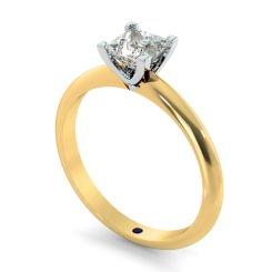 HRP743 Princess cut Classic Knife Edge Diamond Engagement Ring - yellow