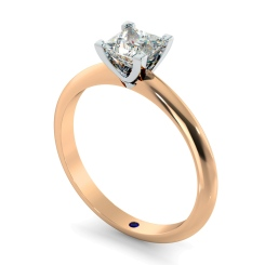 HRP743 Princess cut Classic Knife Edge Diamond Engagement Ring - rose