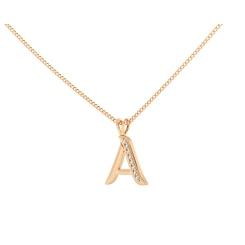 A Alphabet Pendant - rose
