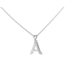 A Alphabet Pendant - white