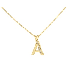 A Alphabet Pendant - yellow