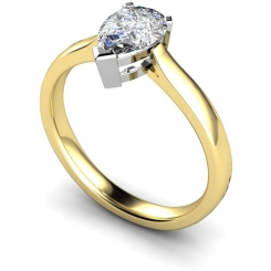 HRPE275 Pear Solitaire Diamond Ring - yellow