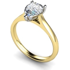 HRPE344 Pear Solitaire Diamond Ring - yellow
