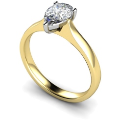 HRPE380 Pear Solitaire Diamond Ring - yellow
