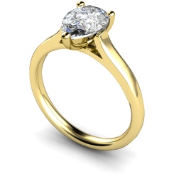 HRPE396 Pear Solitaire Diamond Ring - yellow