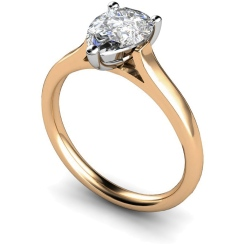 HRPE396 Pear Solitaire Diamond Ring - rose