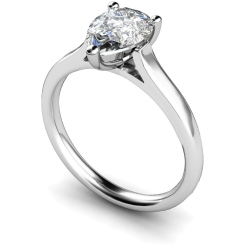 HRPE396 Pear Solitaire Diamond Ring - white