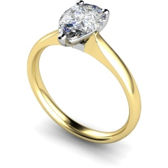 HRPE458 Pear Solitaire Diamond Ring - yellow