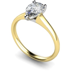 HRPE461 Pear Solitaire Diamond Ring - yellow