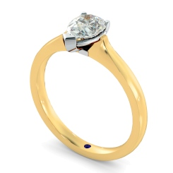 HRPE462 Pear Solitaire Diamond Ring - yellow
