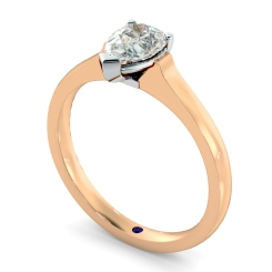 HRPE465 Pear Solitaire Diamond Ring - rose