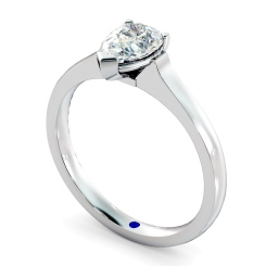 HRPE465 Pear Solitaire Diamond Ring - white