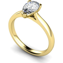 HRPE531 Pear Solitaire Diamond Ring - yellow