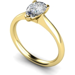 HRPE532 Pear Solitaire Diamond Ring - yellow