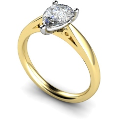 HRPE565 Pear Solitaire Diamond Ring - yellow
