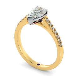 HRPESD875 Pear Shoulder Diamond Ring - yellow