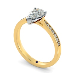HRPESD877 Pear Shoulder Diamond Ring - yellow