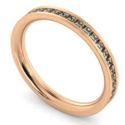 CEPHEUS Princess  cut Full Eternity Ring - rose