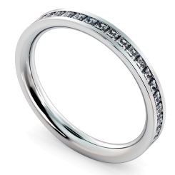 CEPHEUS Princess  cut Full Eternity Ring - white