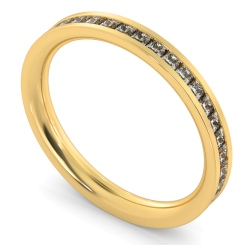 CEPHEUS Princess  cut Full Eternity Ring - yellow