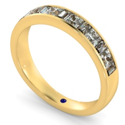 HRPHE1006 Princess & Baguette Half Eternity Diamond Ring - yellow