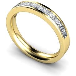 CENTAURUS Princess  cut Half Eternity Ring - yellow