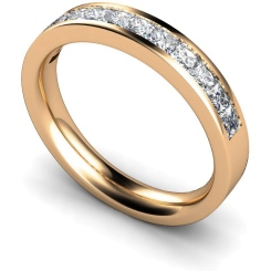 CENTAURUS Princess  cut Half Eternity Ring - rose