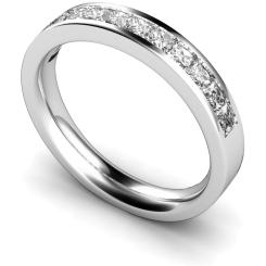 CENTAURUS Princess  cut Half Eternity Ring - white