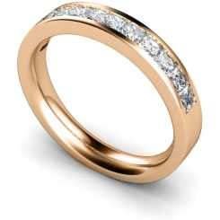 CENTAURUS Princess  cut Half Eternity Ring - rose