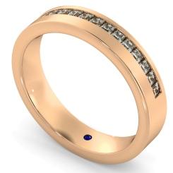 SAGITTA Offset Princess cut Half Diamond Eternity Band - rose