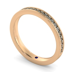 CENTAURUS 60% Princess cut Half Eternity Ring - rose