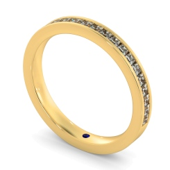 CENTAURUS 60% Princess cut Half Eternity Ring - yellow