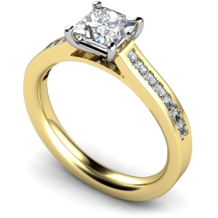 HRPSD576 Princess Shoulder Diamond Ring - yellow