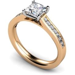 HRPSD576 Princess Shoulder Diamond Ring - rose