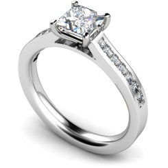 HRPSD576 Princess Shoulder Diamond Ring - white