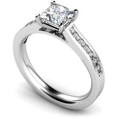 HRPSD576 Princess Shoulder Diamond Ring - white