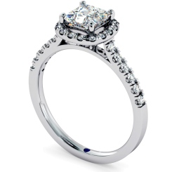 HRPSD680 Princess cut Cushion Halo Diamond Ring - white