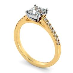 HRPSD811 Princess Shoulder Diamond Ring - yellow