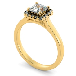 HRPSD824 Princess Halo Diamond Ring - yellow